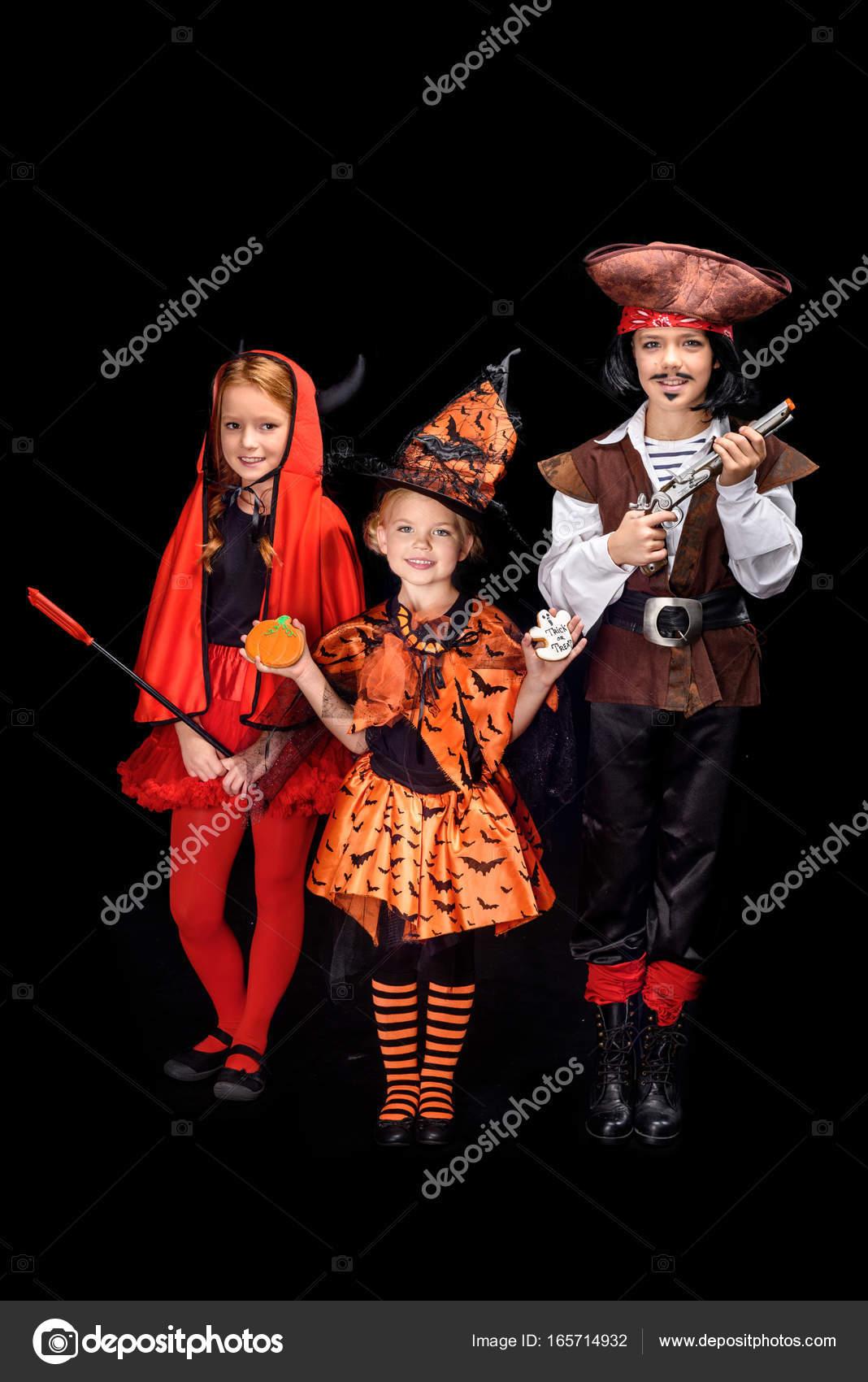 children in halloween costumes — Stock Photo © IgorVetushko