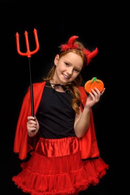 devil with pitchfork and cookie
