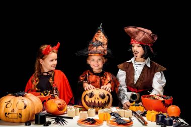 little devil, witch and pirate