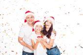 Fényképek Boldog család, karácsony konfetti