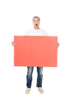shocked man with empty board