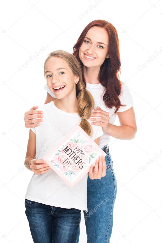 mom and daughter on mothers day