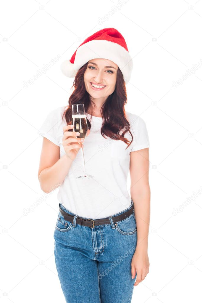 smiling girl with champagne