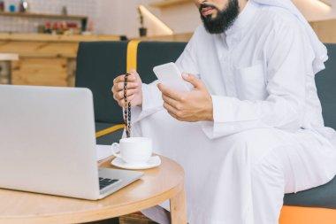muslim man working