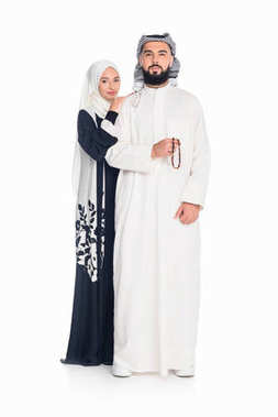 Muslim couple embraing
