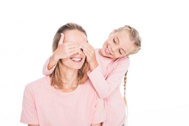 daughter making surprise