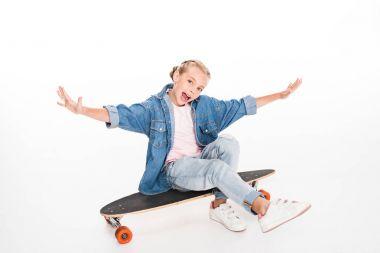 little skateboarder