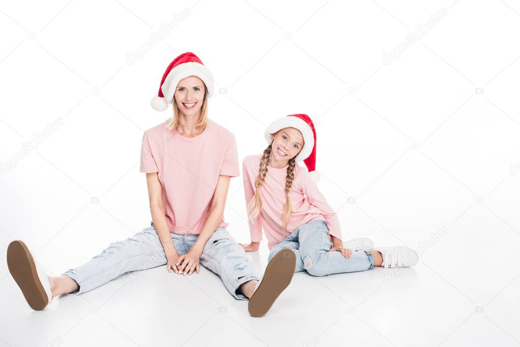 Happy mother and daughter on christmas