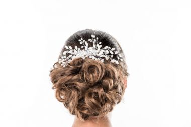 hairstyle with beautiful accessory