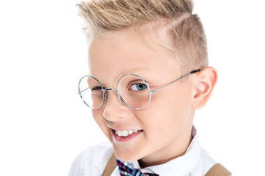 Stylish child in eyeglasses
