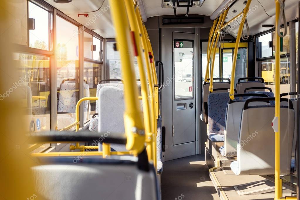 city bus interior