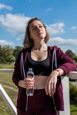 woman relaxing after workout