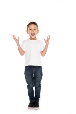 excited little boy