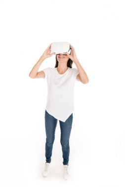 woman in vr headset