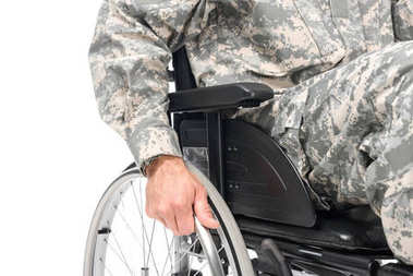 military man in wheelchair