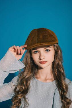 teenage girl in trendy outfit
