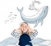 gyermek tengerész jelmez