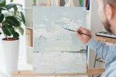 Muž, malba na plátně