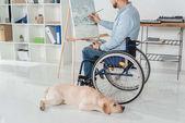 Fotografie Behinderte Maler