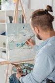 Mann, Malerei auf Leinwand