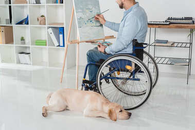 Disabled painter