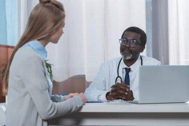 Doctor listening patient