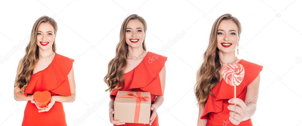 women with valentines day presents