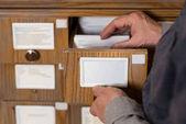 Fényképek levágott kép vezető férfi levéltáros keres katalógusok