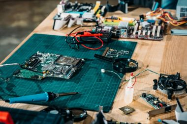 Circuit board and engineering equipment on table