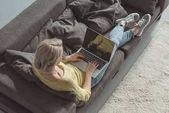 Fotografie funktionierende laptop