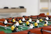 Fotografie table football in living room at home