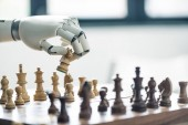 robot sakkozni, szelektív összpontosít kiadványról