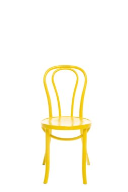Yellow wooden chair isolated on white stock vector