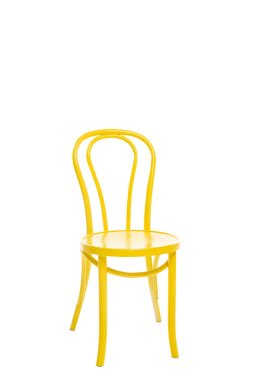Comfortable yellow chair isolated on white stock vector