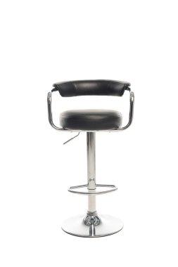 Modern black bar stool isolated on white stock vector