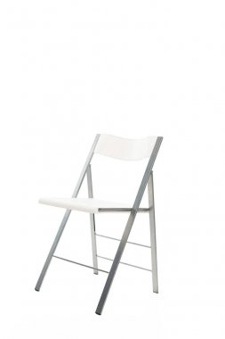 White modern chair isolated on white stock vector