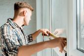selektivní zaměření měřicího okna instalátoru