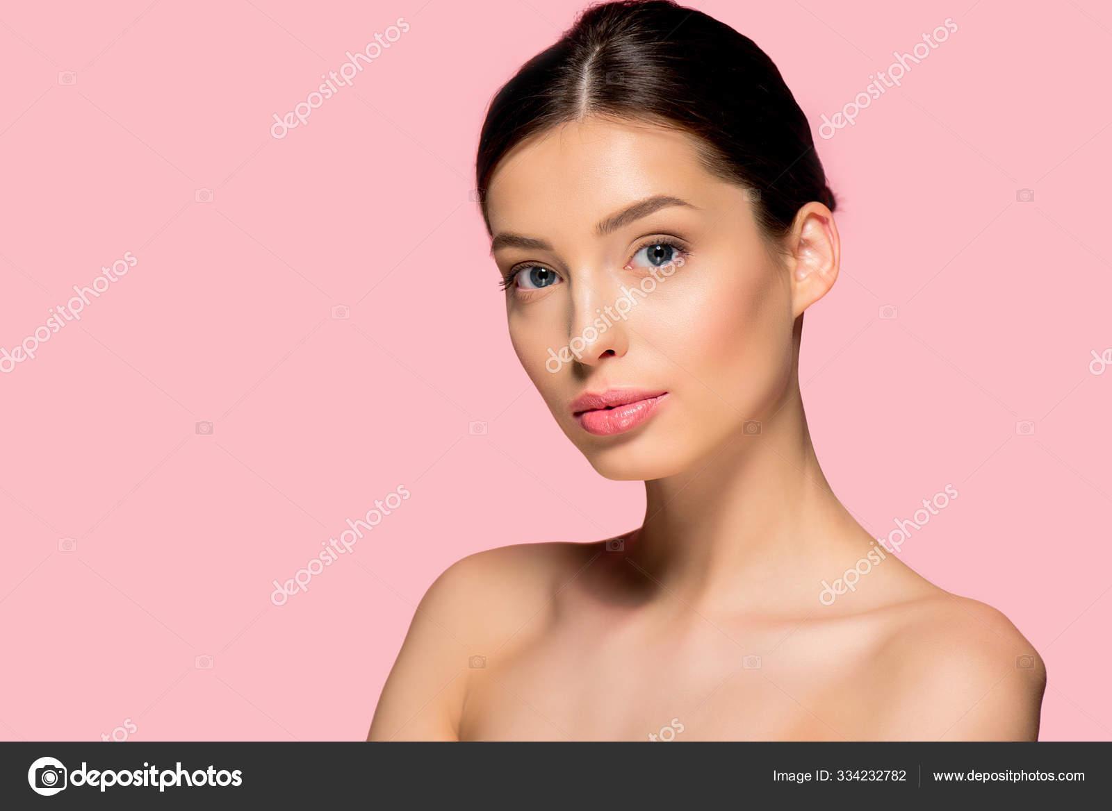 Mujer Bonita De La Cara Con Maquillaje Desnudo Foto de