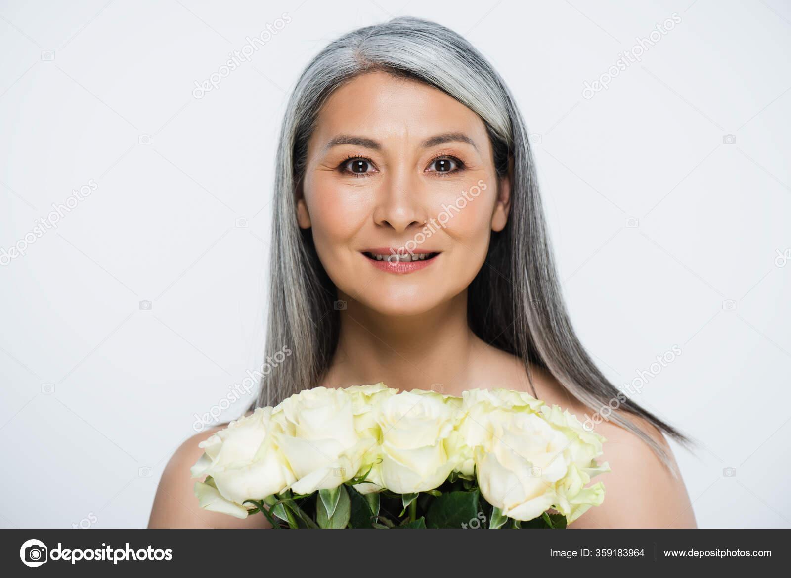 Testen Einer Neuen Kamera Mit Einem Asiatischen Babe