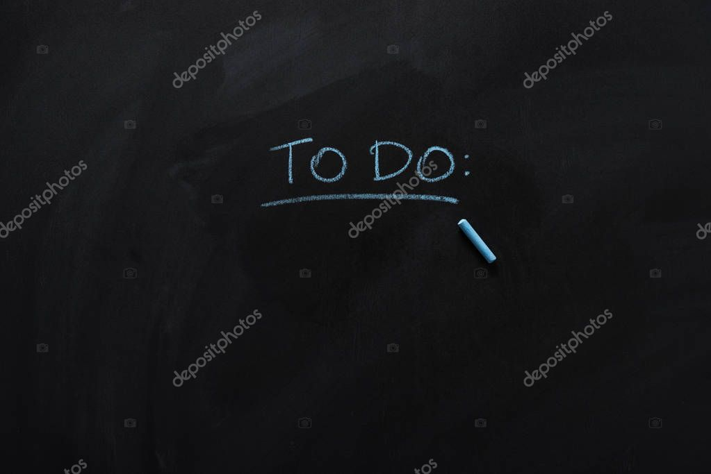 underlined to do note on blackboard