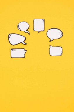 Various blank speech bubbles