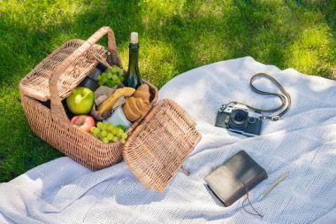 Picnic basket and camera