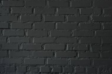 Close-up view of black brick wall textured background stock vector
