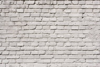 Full frame of white grunge textured brick wall background stock vector