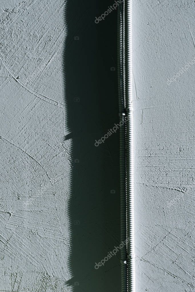 concrete wall with wires
