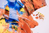 Photo close-up view of decorative abstract colorful painting