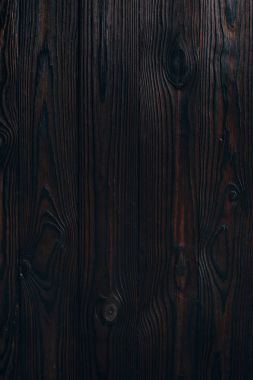 close up view of blank dark wooden background