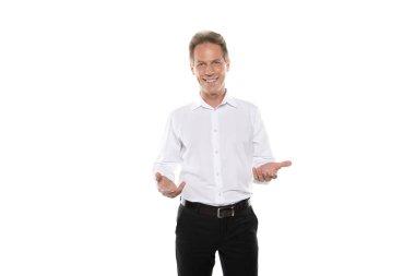 mature businessman in formal wear
