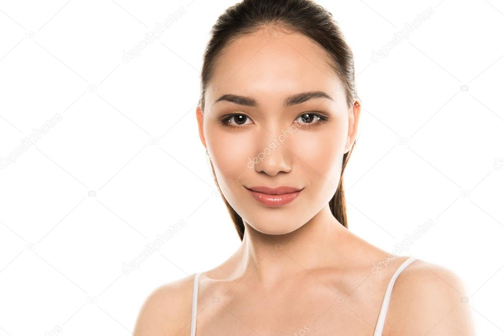 Asian woman with clean skin