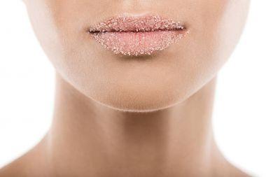 woman with sugar lips
